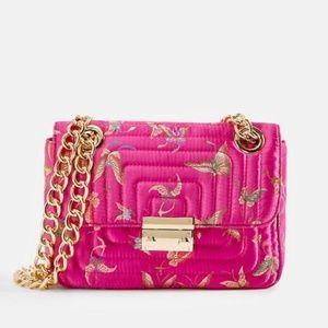 So Posh Pink Butterfly Crossbody Bag